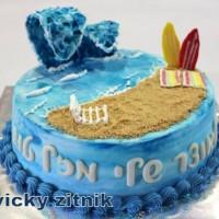 עוגת זילוף חוף ים