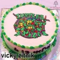 עוגת זילוף צבי הנינג'ה