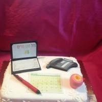 עוגה שולחן משרדי